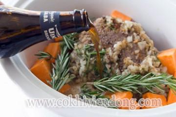 Thịt bò hầm khoai lang kiểu Ý thơm ngon cho bữa tối lãng mạn