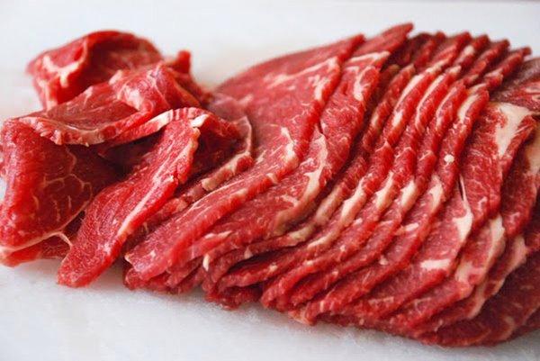 cách thái thịt bò