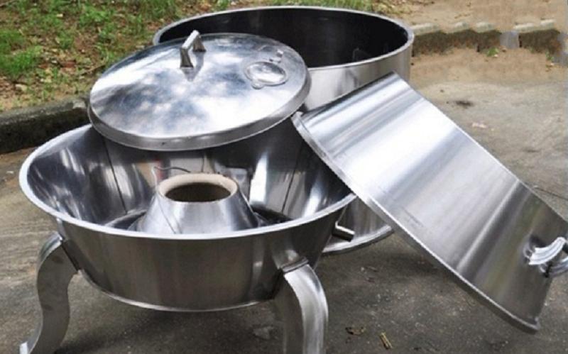 cấu tạo lò quay vịt không khói