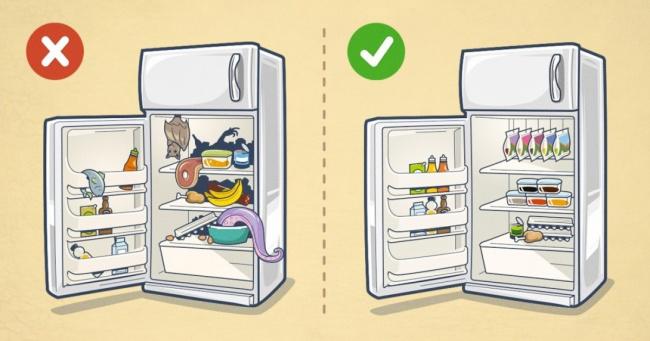 xắp xếp thực phẩm hợp lý