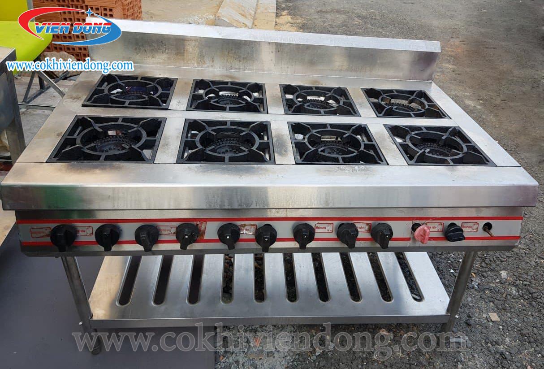 Thiết kế bếp công nghiệp Châu Âu 8 họng gas có ưu điểm gì?