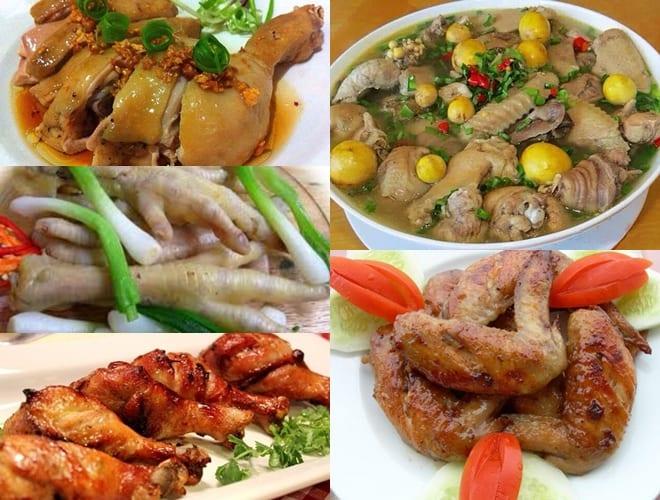 Các món làm từ gà