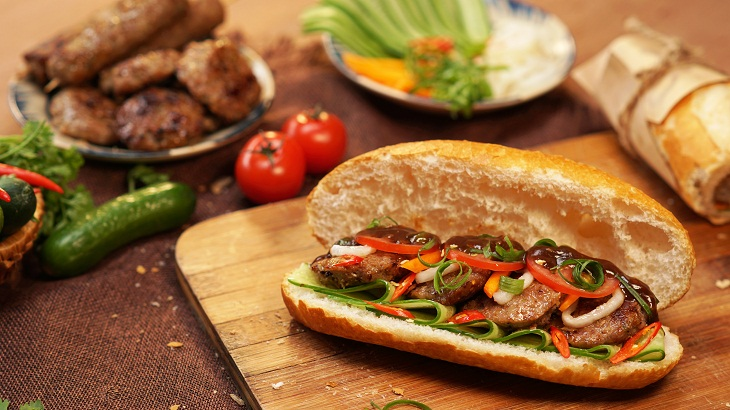 Bánh mì thịt nướng