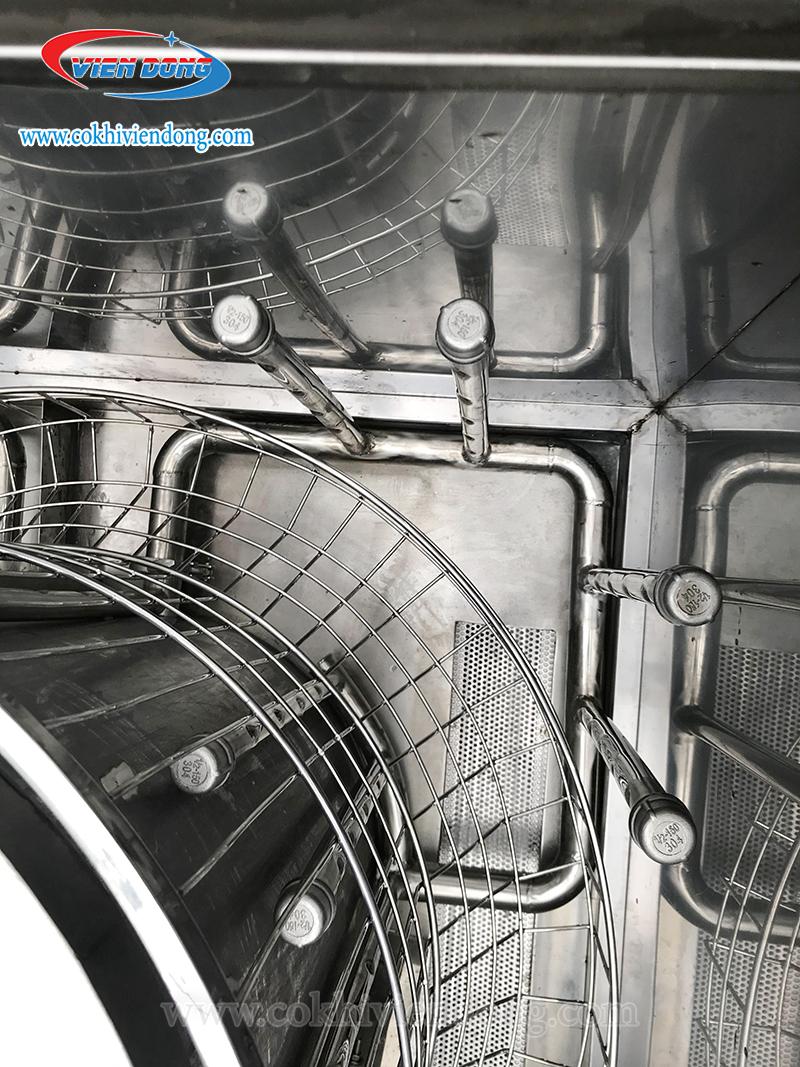 Lồng xoay 360 của máy rửa bát đĩa