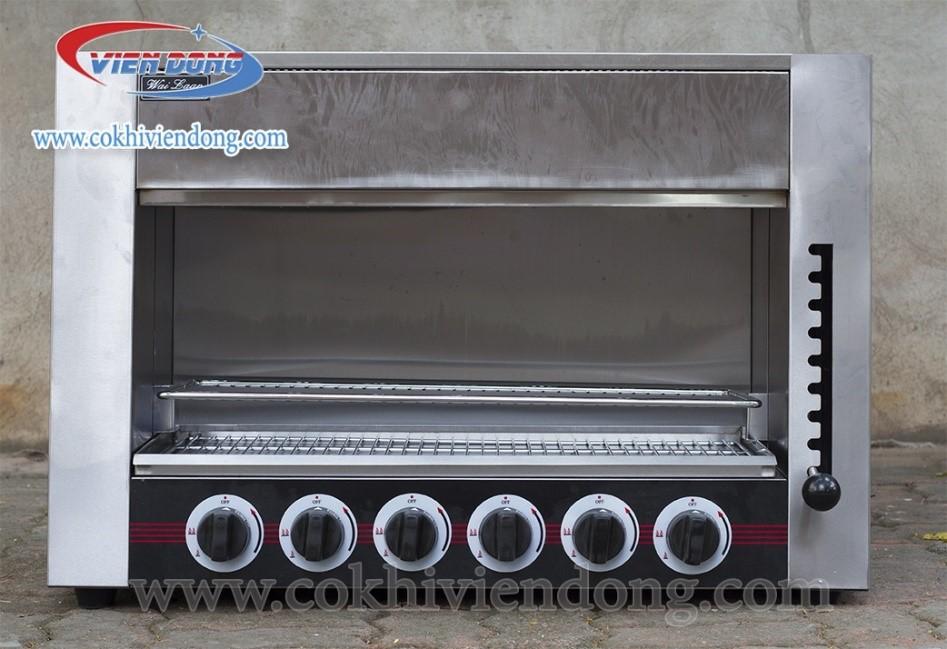 Lò nướng thịt 6 họng bằng gas nướng ngon, thịt chín nhanh