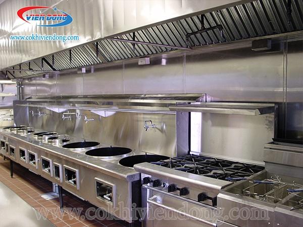 không gian bếp lớn